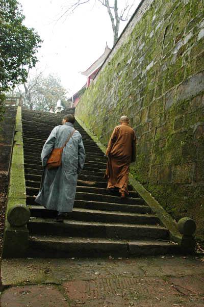 仁瑞寺山門前石階。