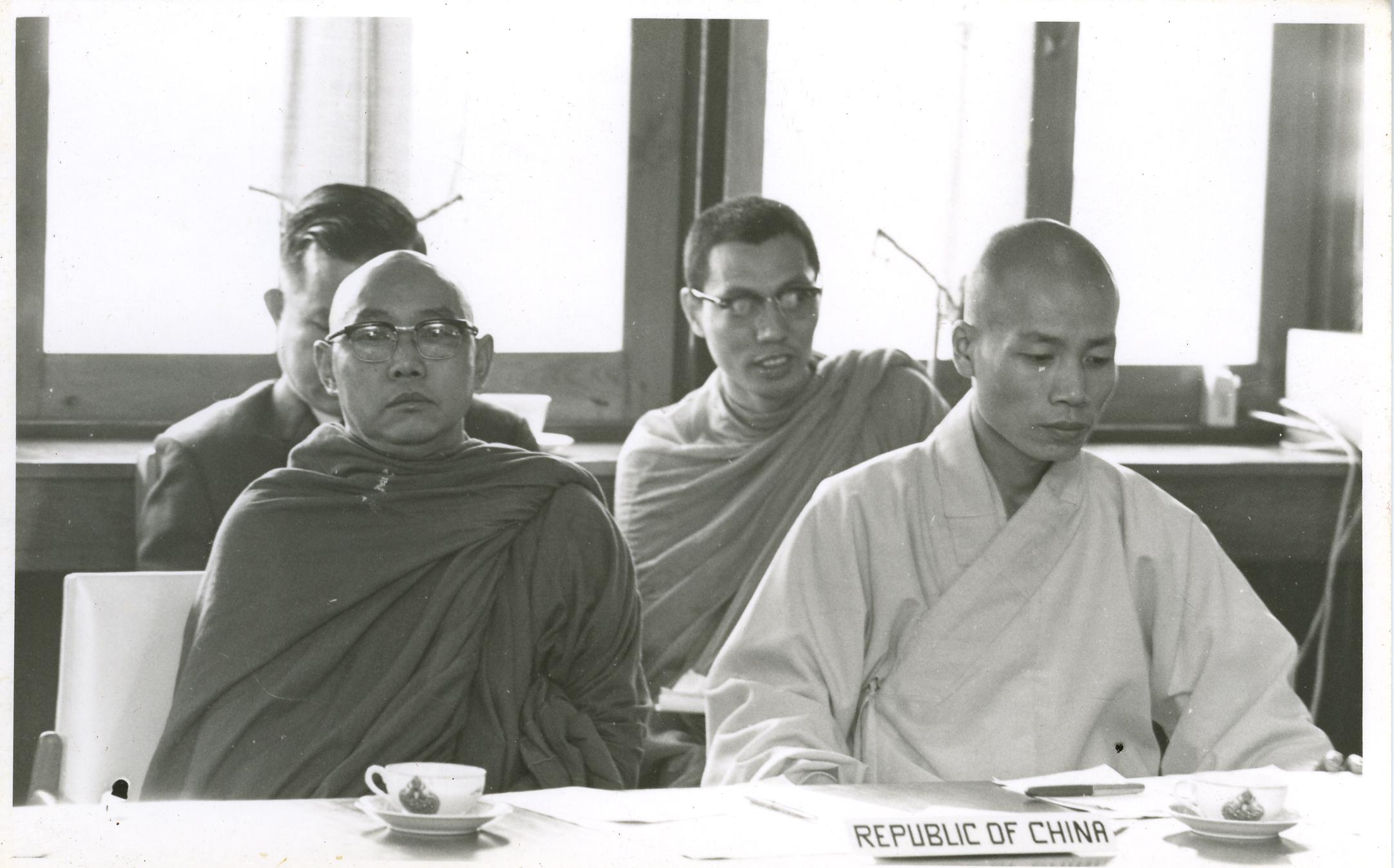 出席世界佛教徒友誼會