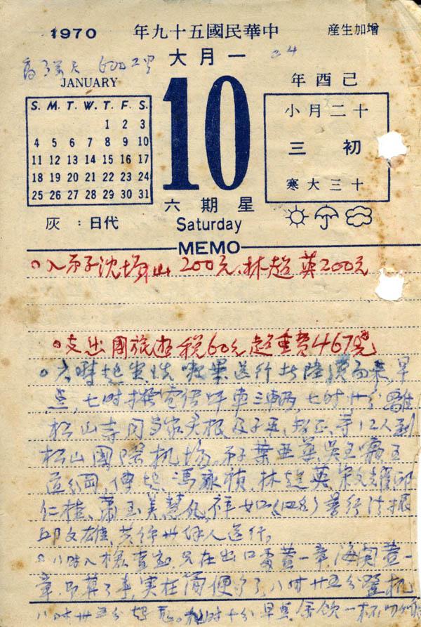 1970年2.10-3.10日記